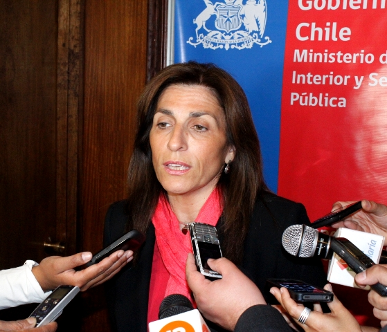Intendenta Pilar Cuevas en punto de prensa este lunes 20 de febrero.