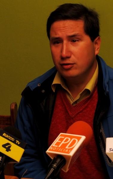 Juan Catalán, representante del PC Aysén.