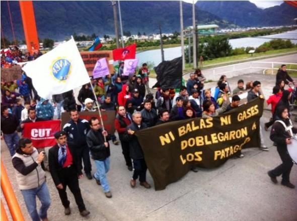 3 Marcha en Aysén Comemoración 1 año Movilización Social