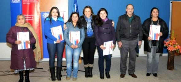 En emotiva ceremonia 94 Familias de Puerto Aysén recibieron subsidios para su casa propia y mejoramiento.