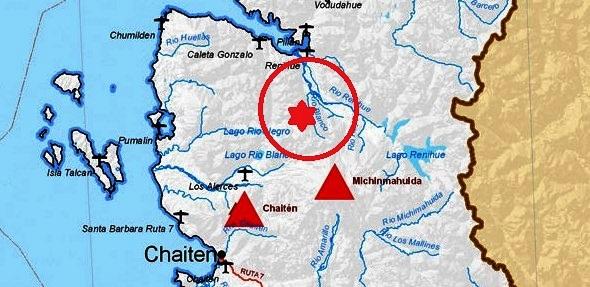 La zona del accidente se ubica a 60 km al sur de Caleta Gonzalo en la Región de Los Lagos