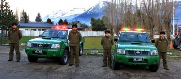 Prefectura de Carabineros Aysén entregó carros a Tenencia Puerto Ingeniero Ibáñez (F) y al Retén Villa Ortega