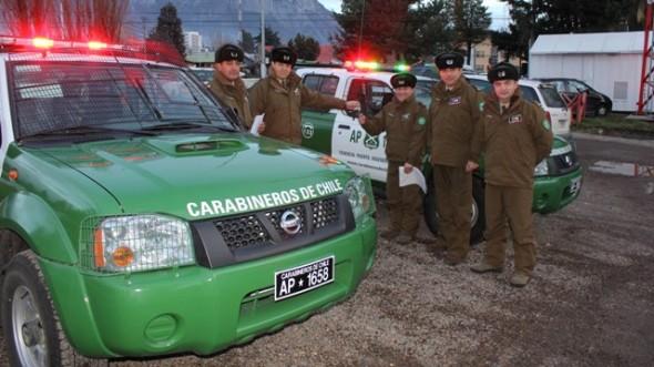 Prefectura de Carabineros Aysén entregó carros a Tenencia Puerto Ingeniero Ibáñez (F) y al Retén Villa Ortega.