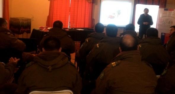 Reunión de trabajo Primera Comisaría Coyhaique.