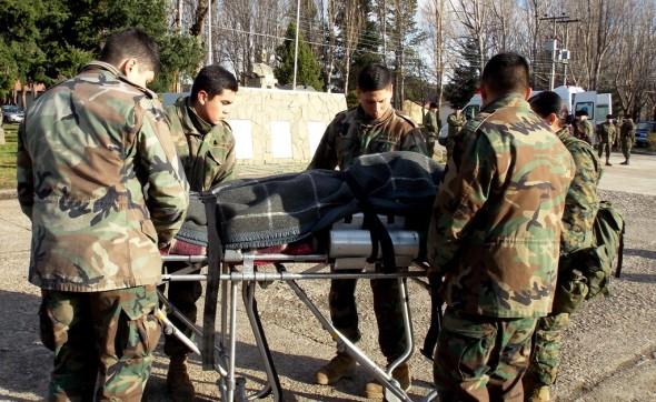 Traslado soldados lesionados a Coyhaique