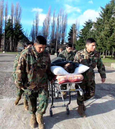 Traslado soldados lesionados