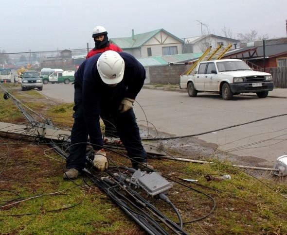 Cuadrillas de trabajo en tendido electrico