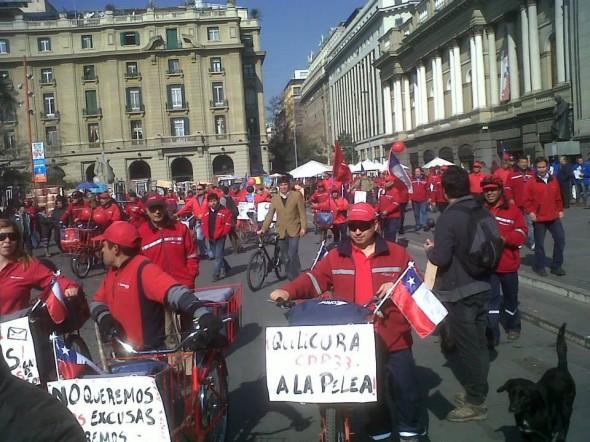 Paralizacion en Santiago