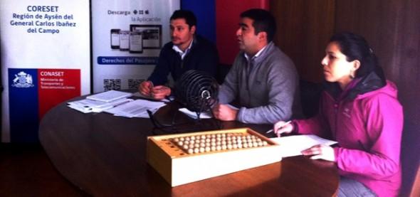 Con sorteo público culmino proceso de entrega de cupos para taxis en la Región de Aysén