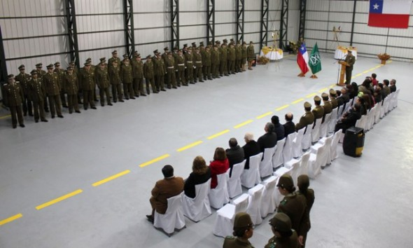 El acto desarrollado en el hangar ubicado en el aeródromo Teniente Vidal