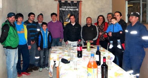 Gobernador entrega recursos del Fondo Social Presidente de la República a Club Deportivo Emilio Millar
