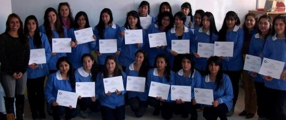 Alumnas Técnico en Párvulos del Liceo Juan Pablo II