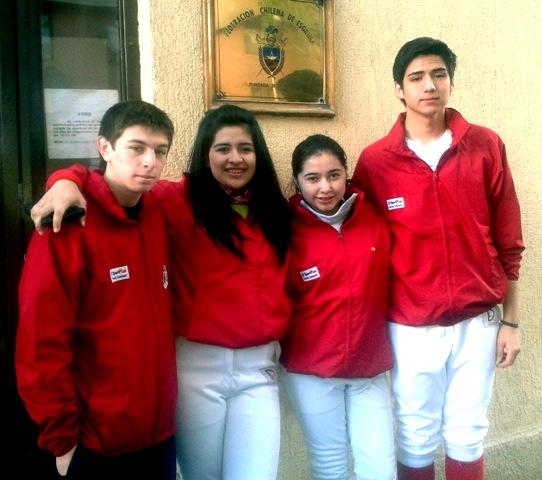 Carlos Candia, Constanza Véjar, Elizabeth Pilquiman y Jorge Curna