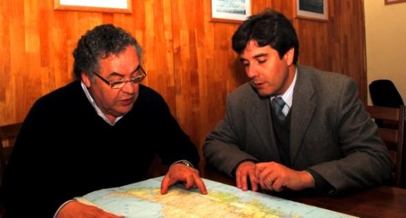 Hector Canales juanto a Selim Carrasco