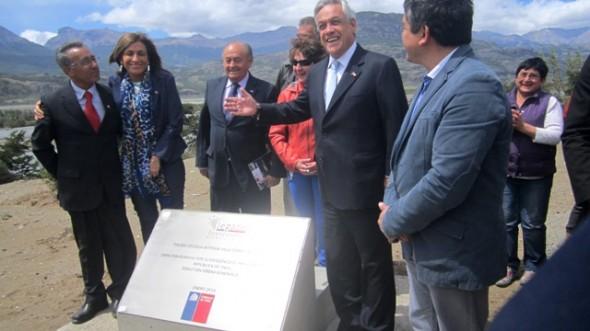 Presidente Sebastián Piñera en Cerro Castillo