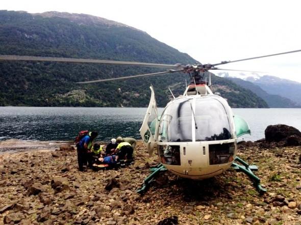 Rescate aereo Carabineros