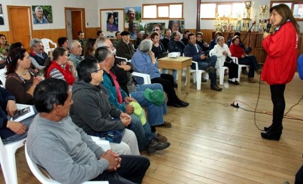 Comunidad de La Junta agradeció gestión de la intendenta Pilar Cuevas en estos 4 años.