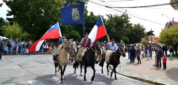 Desfile de pioneros.