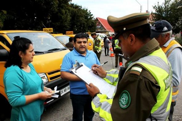 Carabineros realizará este sábado masiva fiscalización y certificación al transporte escolar en la Región de Aysén
