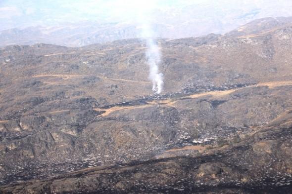 Detalle zona incendio Valle Chacabuco Cochrane
