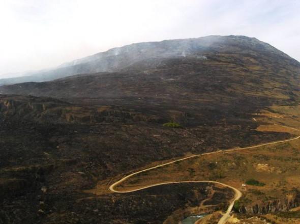 Incendio cortafuego en Cochrane