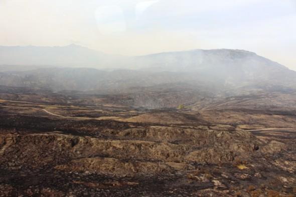 zona incendio Valle Chacabuco Cochrane