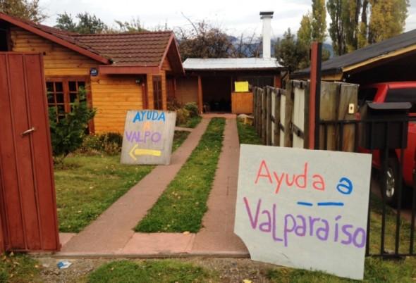 Ayuda a Valparaiso desde Coyhaique