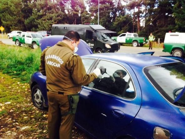 Carabinros encontro vehiculo involucrado en robo a Corproacion Judicial