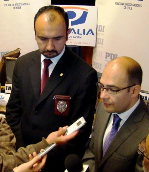 Comisario Mario Cisterna y fiscal Sergio Caro