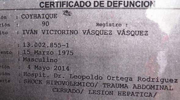 Certificado Defuncion Ivan Vasquez Vasquez