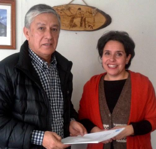 Diputado David Sandoval y Miriam Chible