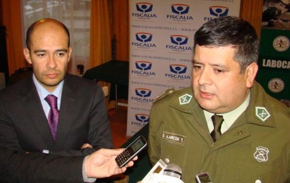 Fiscal Sergio Caro y coronel Alaracón