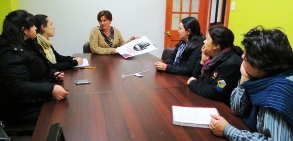 Lorena Soza, directora Sename Aysén y equipo