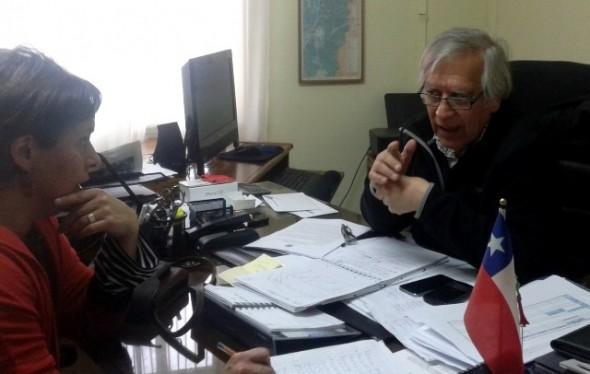Miriam Chible y seremi de gobierno Jorge Díaz