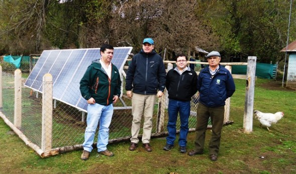 Lago Verde fotovoltaico autoridades