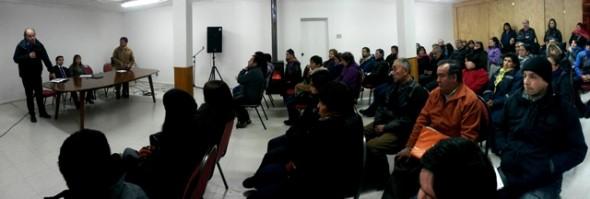 Senador Walker se reunio con ocho comités de la comuna de Coyhaique