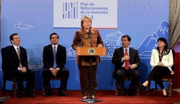 Presidenta Bachelet, Plan Reforzamiento de Inversión