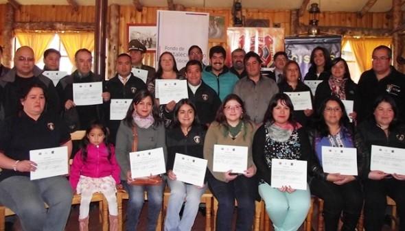 Foto certificación Bomberos Cisnes Segob