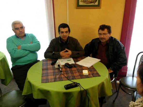 Conferencia de Prensa Ricardo Ibarra, Cristian Saldía y Juan Haro