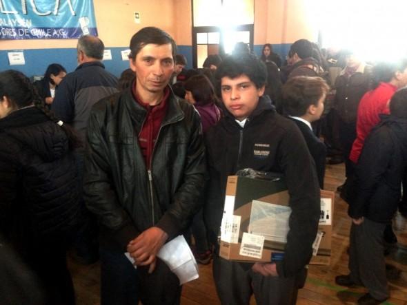 Leonel Valladares y su hijo Francisco Valladares de El Blanco