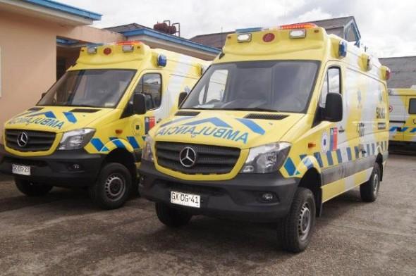 Ambulancia que llegaran a la  zona (referencia)