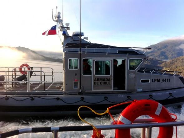 patrullera para el Lago O'Higgins