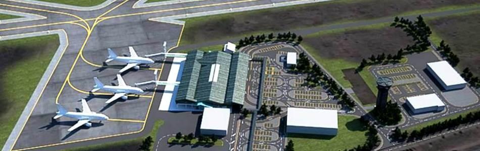 aeropuerto Balmaceda vista aerea Slide