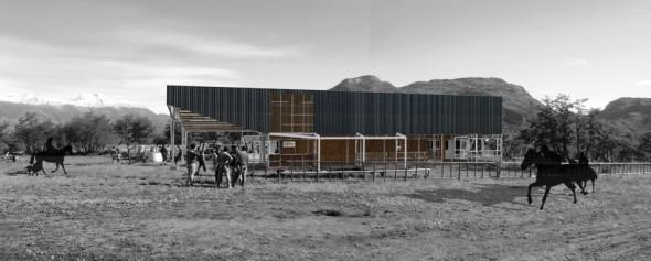 fotomontaje Casino hipico Cochrane