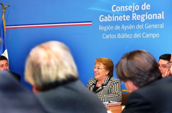 Bachelet gabinete aysen