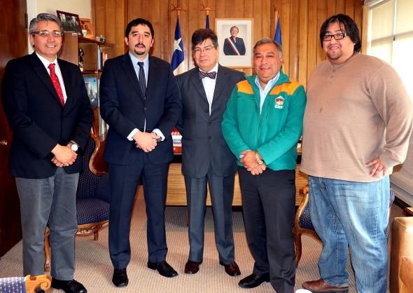 Intendente Calderón recibió a ex rector de la Universidad de Chile Luis Riveros