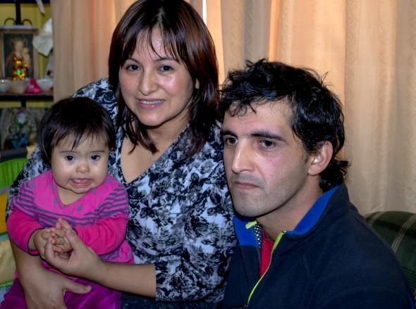 Millray y su familia.
