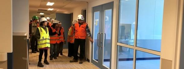 Visita funcionarios hospital