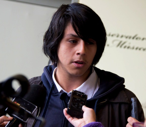 Bruno Díaz, vocero del liceo Josefina Aguirre Montenegro