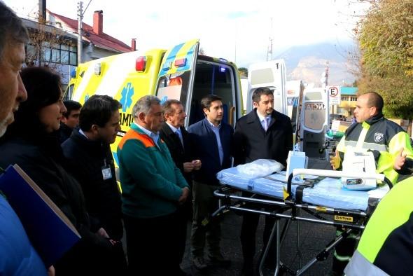Entrega Ambulancia Coyhaique.